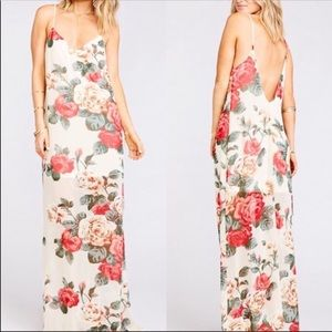 Show Me Your MuMu Dresses - SHOW ME YOUR MUMU  Rose Jolie Deep V Maxi Dress
